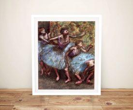 Four Dancers Behind the Scenes Framed Art
