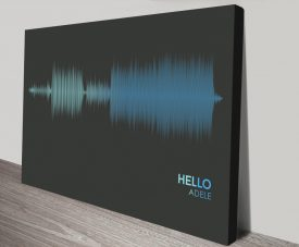 Hello Electric blue canvas print