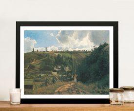 La Côte du Jallais Classic Landscape Print on Canvas