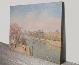Le Louvre soleil d'hiver Classic Pissarro Wall Art