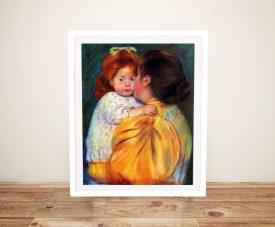 Maternal Kiss Mary Cassatt Print on Canvas