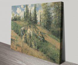 Récolte des Pommes Classic Print on Canvas