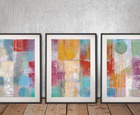 Summer Rain Silvia Vassileva Triptych Wall Art