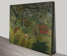 Surprised! Classic Henri Rousseau Canvas Wall Art