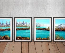 Sydney Harbour Split Panel Framed Canvas Artwork