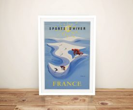 Buy a Sports D'Hiver Vintage Advertising Poster