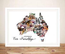Map of Australia Photo Collage Personalised Art