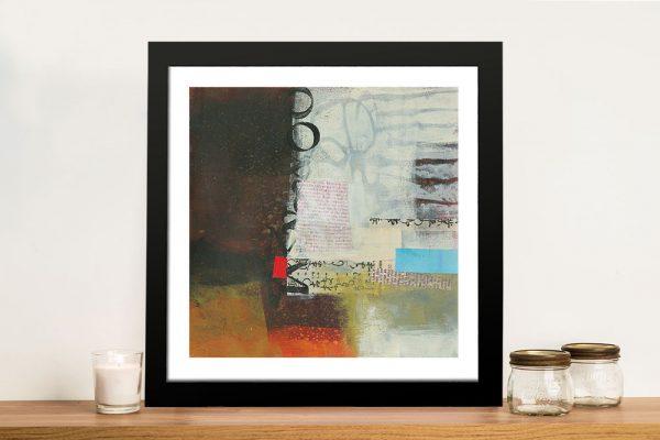 Autumn Lines Framed Abstract Jane Davies Art