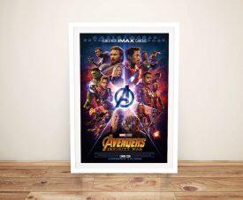 Avengers Infinity War Framed Print on Canvas