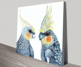 Cheeky Cockatiels Wild Birds Wall Art