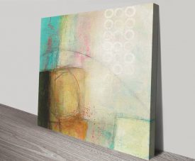 Circles Stretched Canvas Abstract Art Print