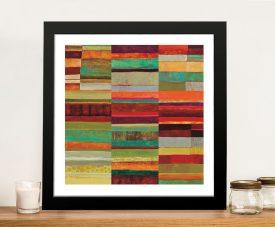 Fields Framed Jane Davies Abstract Art
