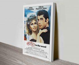 Vintage Grease Canvas Movie Poster Artwork