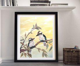 Framed Linda Callaghan Print of Kookaburra Magic