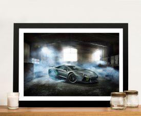 Framed Lamborghini Stretched Canvas Artwork