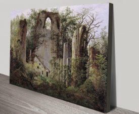 Monastery Ruin Classic Friedrich Wall Art