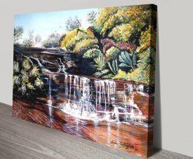 Queens Cascades Landscape Painting Print
