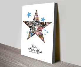 Personalised Photo Star Collage Canvas Art
