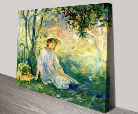 Under the Orange Tree Wall Art by Berthe Morisot