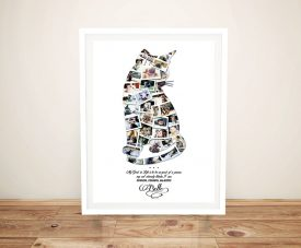 Buy a Custom Cat Photo Collage Canvas Print