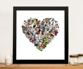 Romantic Heart Photo Collage Canvas Art