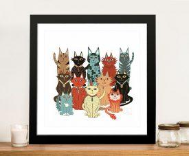 A Dozen Cats Cute Print by Lisa Frances Judd