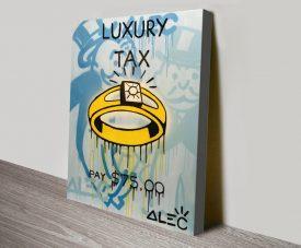 Luxury Tax Wall Art Print
