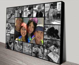 Get a Black & White Custom Design Collage
