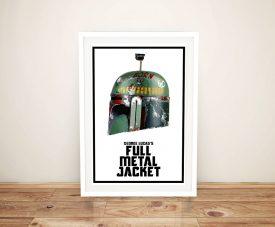 Framed Canvas Boba Fett Helmet Pop Art
