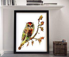 Brown Owl Painting Print by Linda Callaghan