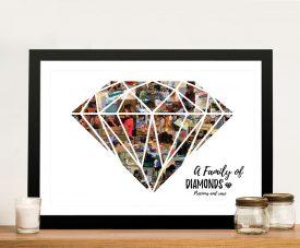 Diamond Shape Personalised Photo Collage