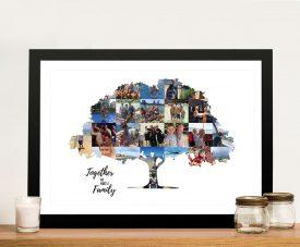 Custom Family Tree Photo Collage Wall Art
