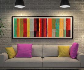 Buy Fields of Colour II Framed Panoramic Art