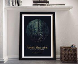 Framed Enchanted Forest Custom Star Map