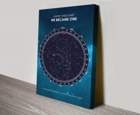 Buy a Galaxy Design Custom Star Map Print