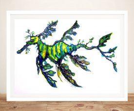 Leafy Sea Dragon Framed Print on Canvas