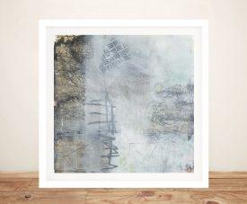 Buy Misty II Framed Abstract Canvas Art