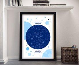 Framed Personalised Newborn Star Chart