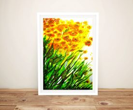 Sizzling Sunflowers Linda Callaghan Framed Art