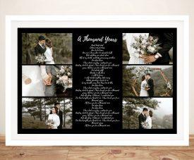 Framed Custom Canvas Song Lyrics Collage
