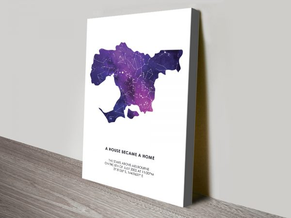 Personalised City Silhouette Star Map Art