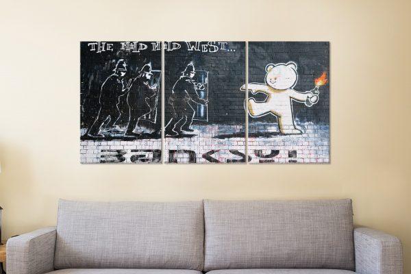 The Mild Mild West Banksy Multi-Panel Art