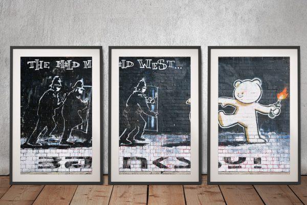The Mild Mild West Framed Triptych Print Set