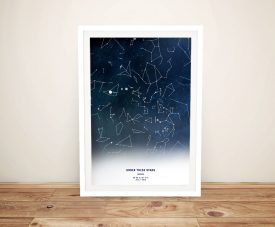 Under these Stars Map ArtGift Australia