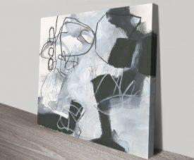 What's Happening II Grey Tones Abstract Art