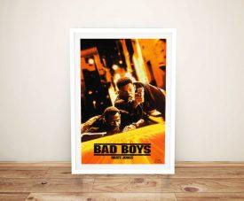 Framed Bad Boys Movie Poster Print on Canvas