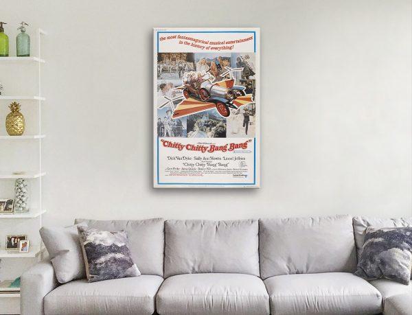 Chitty Chitty Bang Bang Vintage Movie Poster