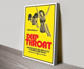Deep Throat Canvas Retro Movie Poster