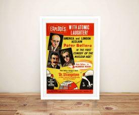 Dr Strangelove Framed Movie Poster on Canvas