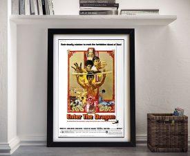 Vintage Framed Enter the Dragon Movie Poster